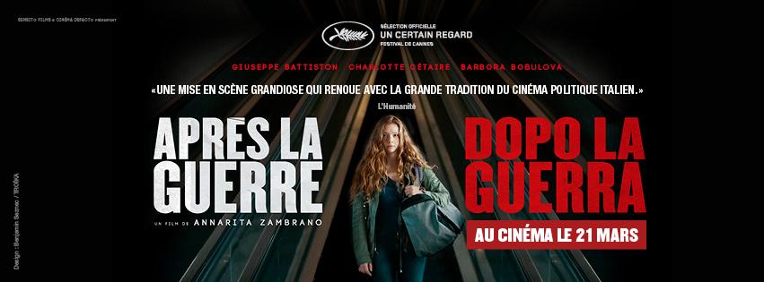DOPO LA GUERRA in French theaters!